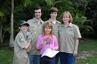 joan and family with Bindi, Australia Zoo