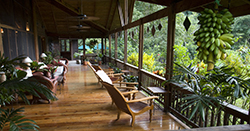 lodge restaurant veranda. photo by Roy Toft/the lodge at pico bonito